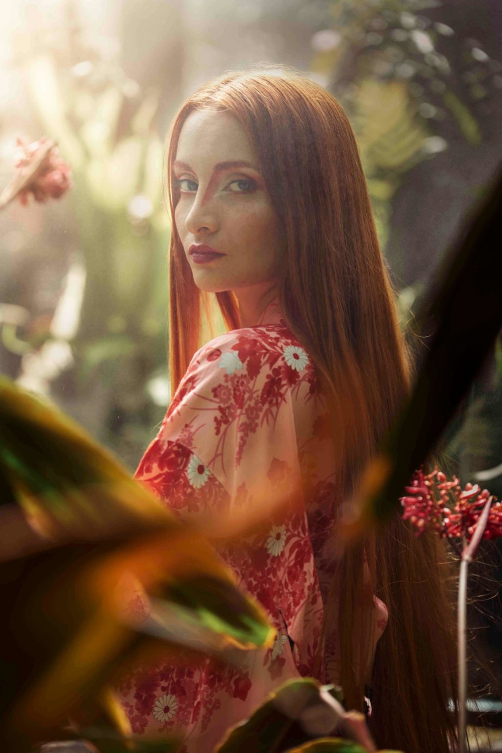 botanical, plants, nature, woman, long hair
