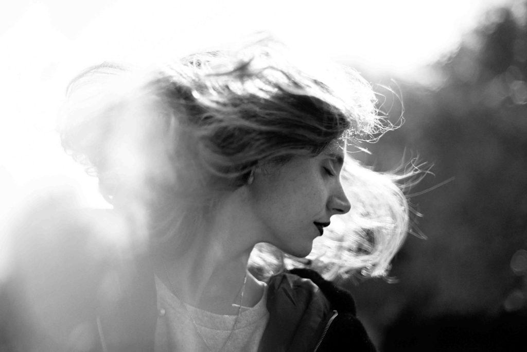hair, woman, light, city