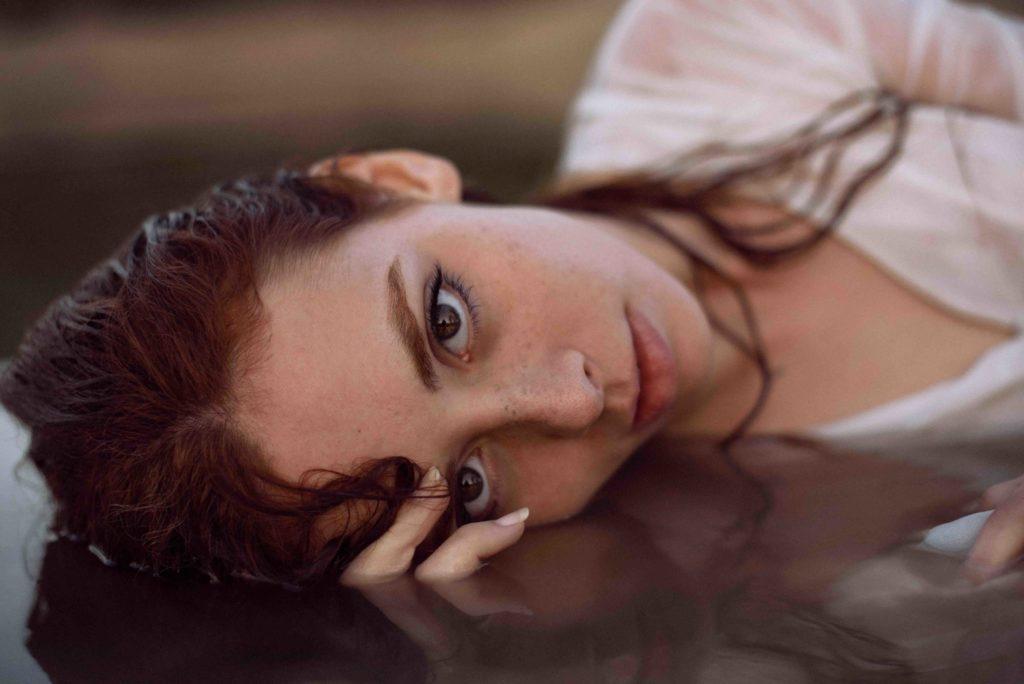 outside, woman, face, lips, eyes, portrait