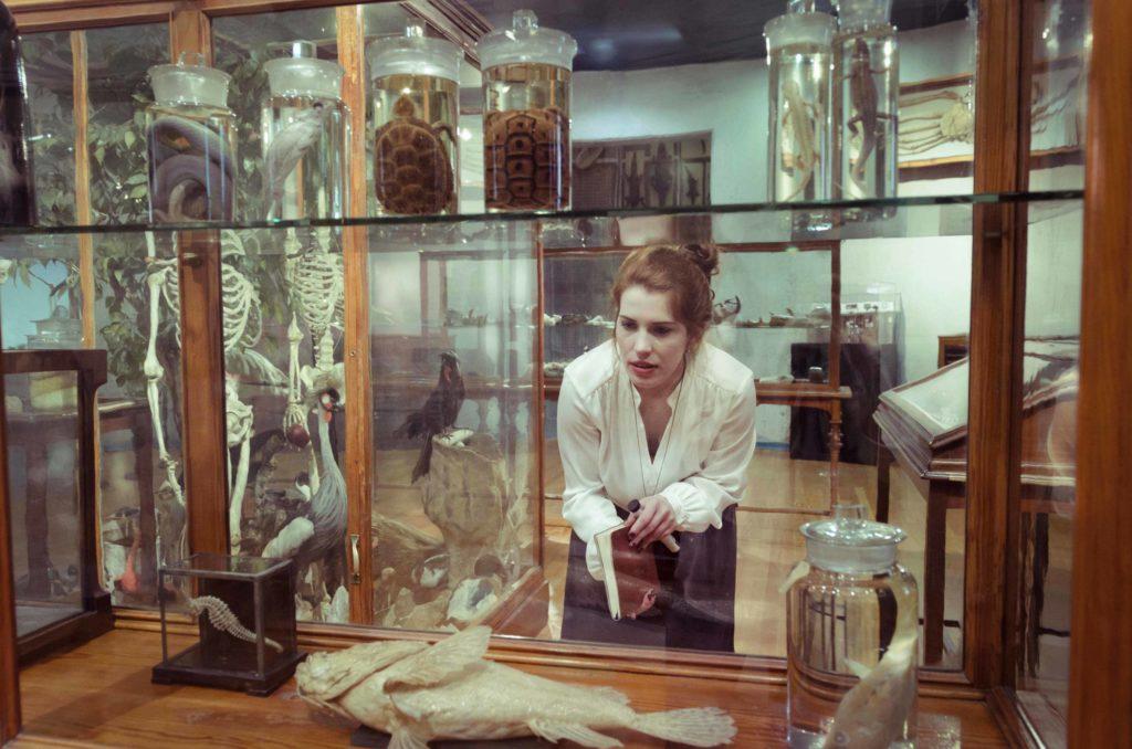 investigadora, museo, ciencia, art, portrait, photo