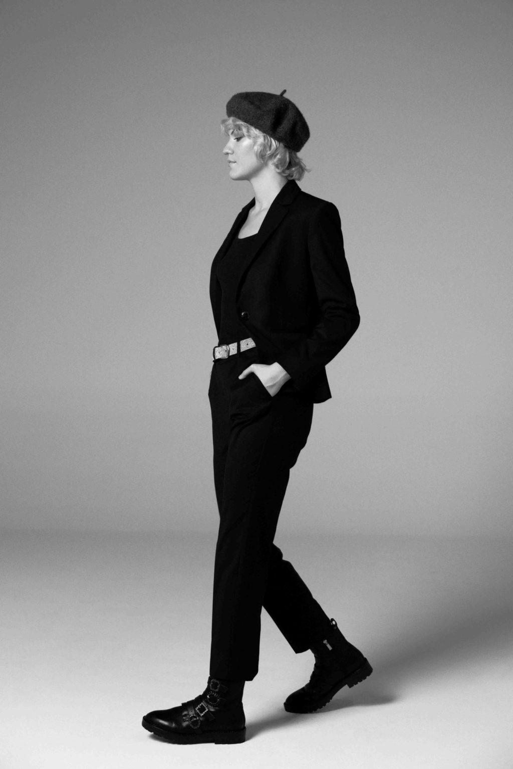 botas traje suit negro tomboy style fashion test