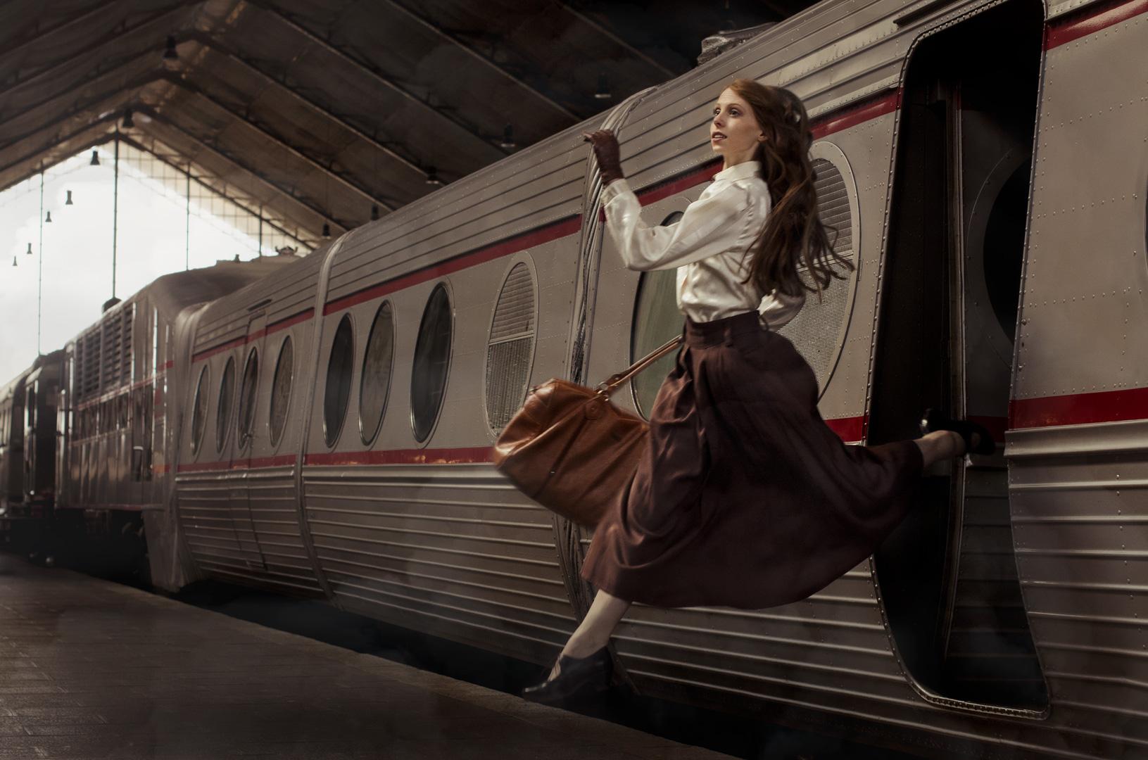 train, story, model ,jump, historia, foto, photography